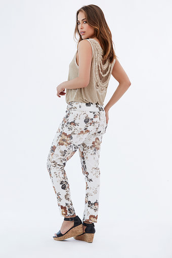 Isay - Roma 7/8 Printed Pant Summer Flower