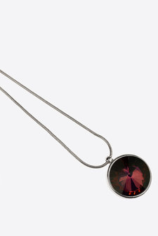 Ioaku -  Necklace The Zen Amulet 75 Silver / Wine red