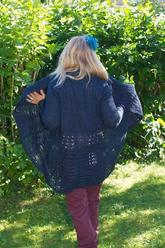 Culture - Sheena Cardigan Blue Eclipse Melange