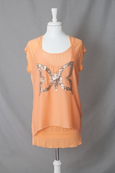 Cream - Butterfly T-shirt Melon Dream 50% REA