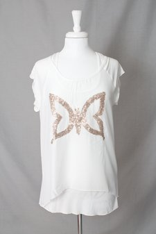 Cream - Butterfly T-shirt Optical White