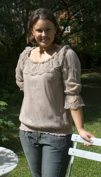 Cream - Blus Penny Lace Taupe