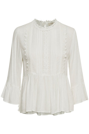 Cream - Candie Blouse Chalk