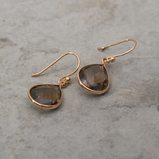 Syster P - Raindrop Earrings Smokey Gold