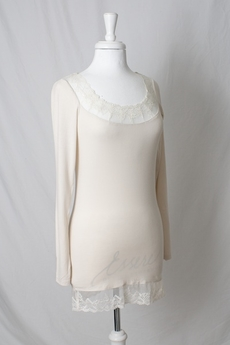 Cream - Florence Long Sleeve Top Milky Sand