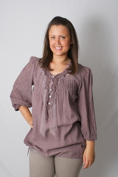 Cream - Sollina Blouse Dusty Heather 50% REA