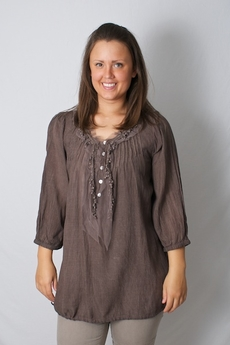 Cream - Sollina Blouse Coffee 50% REA