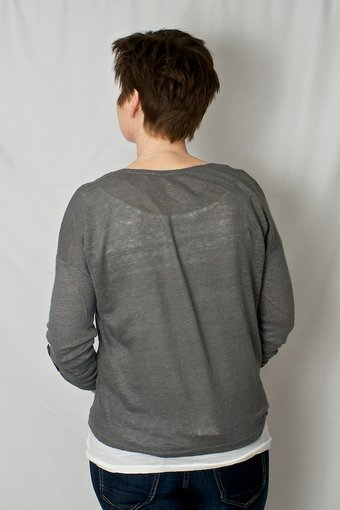 Culture - Limkilde Blouse Laundrey Grey/Gardenia