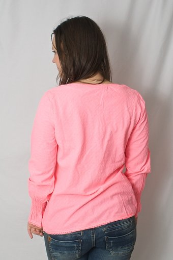 Culture - Syben Blouse Neon Pink