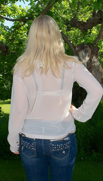 Pulz Jeans - Blus Iva Champagne