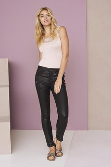 Cream - Bibiana Coated Jeans Pitch Black