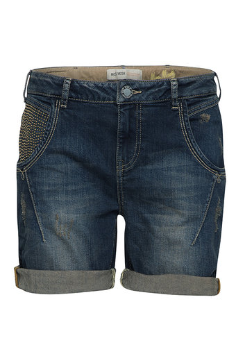 Mos Mosh - Linton Denim Shorts Dark Blue Denim
