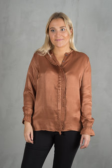 Plus Fine - Alisa Shirt Brown Shell