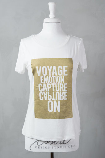 Second Female - Runway Tee Offwhite / Gold