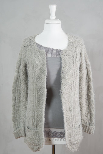Culture - Madalyn Knit Cardigan Grey melange