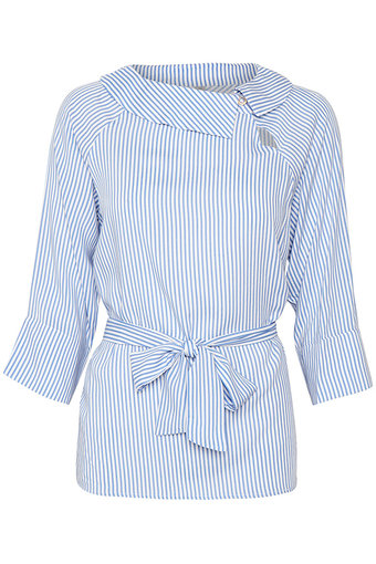 Culture - Tashie Blouse Blue Stripe