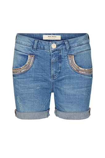 Mos Mosh - Naomi Shine Shorts Light Blue Denim