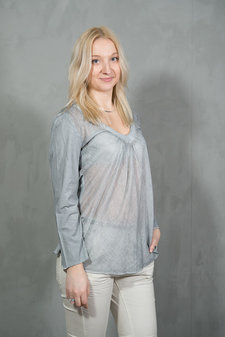 Circle of Trust - Abbie Top Grey Blush