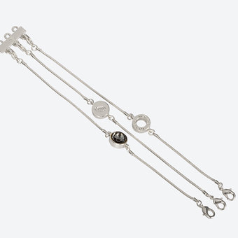 Ioaku -  The Iconic Bracelet 3 in 1 Silver / Smoke