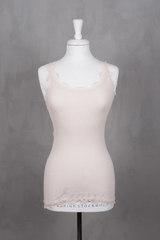 Rosemunde - Silk Top Medium w/vintage lace Soft Powder