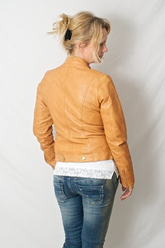 Frontrow - Morielle Leatherjacket Orange