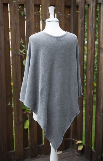 Tif-Tiffy - Alabama Poncho Grey Melange