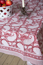 Chamois - Duk Bomull Big Paisley Red 170x270 cm