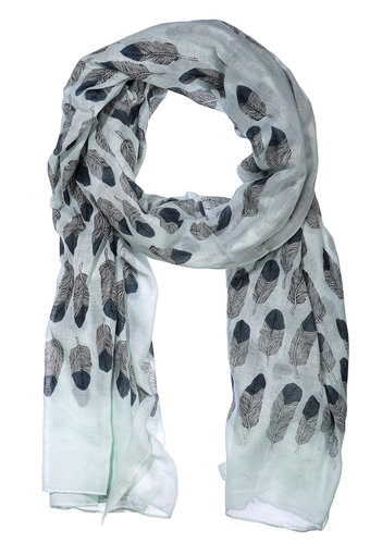 AMUST - Feather Scarf Mint