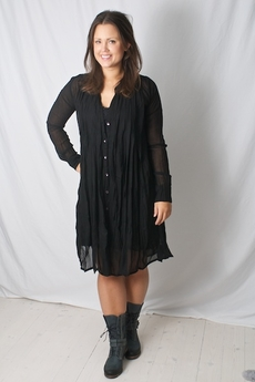 Vintage by Fé - Eve Sheer Dress Black 50 % REA