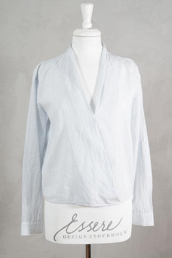 Second Female - Cora Shirt Babyblue / white