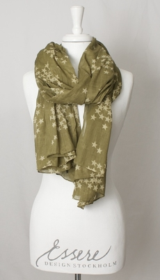 Maya Scarf Star Army Green
