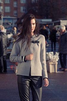 Isay - Lance Knitted Jacket Light Grey Melange