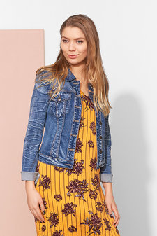 Culture - Cadelyn Denim Jacket Blue Wash