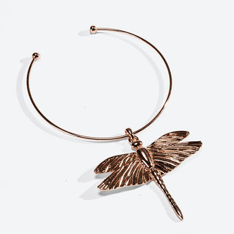 Ioaku -  Necklace The Dragonfly Rosegold