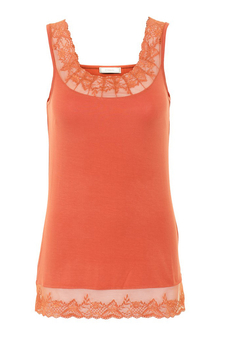 Cream - Florence Top Rust Orange
