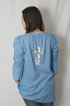 Love Forever - Kicki Tunic Faded Denim 50% REA