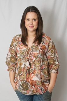 Love Forever - Lena Blouse Orange Paisley 50% REA