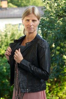 Kaffe - Mindy Leather Jacket Black deep