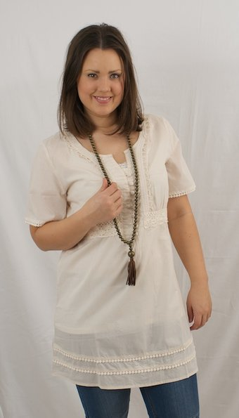 kaffe - Annika tunic Crystal Grey