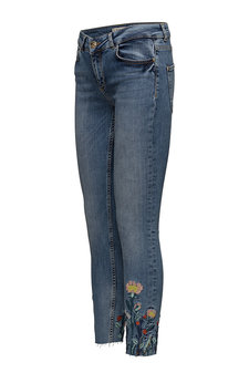 Mos Mosh - Victoria Flower Jeans Light Blue Denim