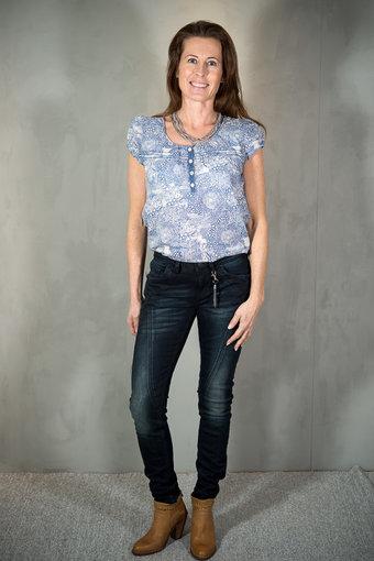 Pulz - Jenny Skinny jeans Mid waist Dark Blue