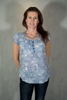 Culture - Lake Blouse Dutch Blue Mix