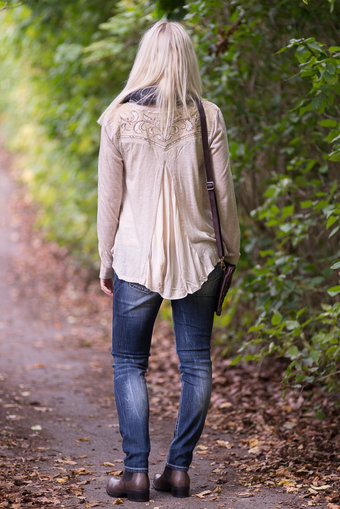 Miss Me - Cardigan Taupe