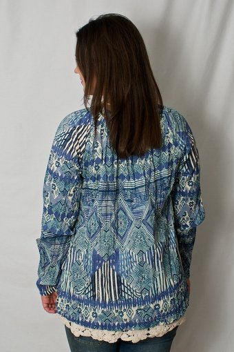 kaffe - Pernilla blouse print China Blue