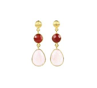 Pipol's Bazaar - Dessie Earring Coral