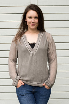 Frontrow - Jordan Blouse Silver Grey