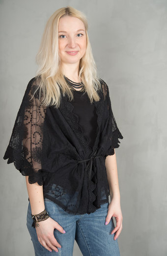 Frontrow - Uma Top Lace Black