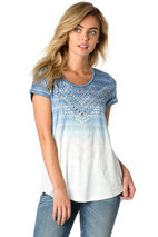 Miss Me - Faded Glory Top Blue