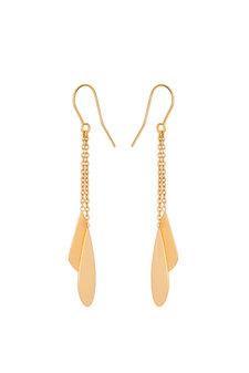 Pernille Corydon - Raindrop Earhooks Goldplated Silver