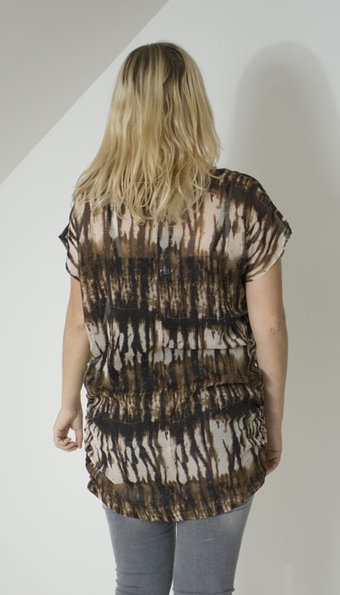 Pulz Jeans - Eza Tunic Forest Brown